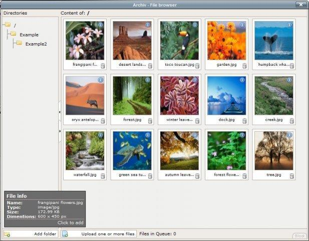 Archiv preview files screenshot