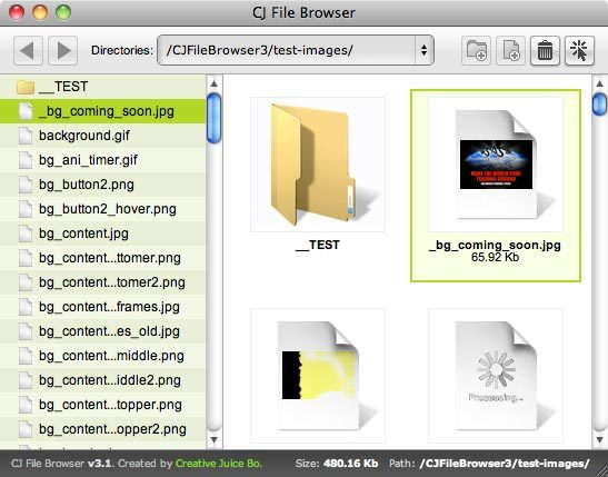 CJ File Browser screenshot