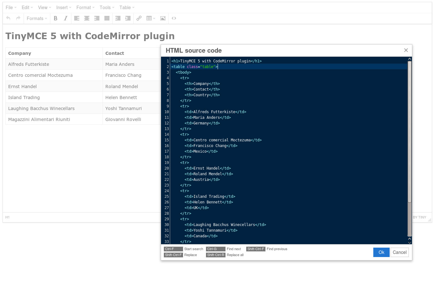 CodeMirror screenshot