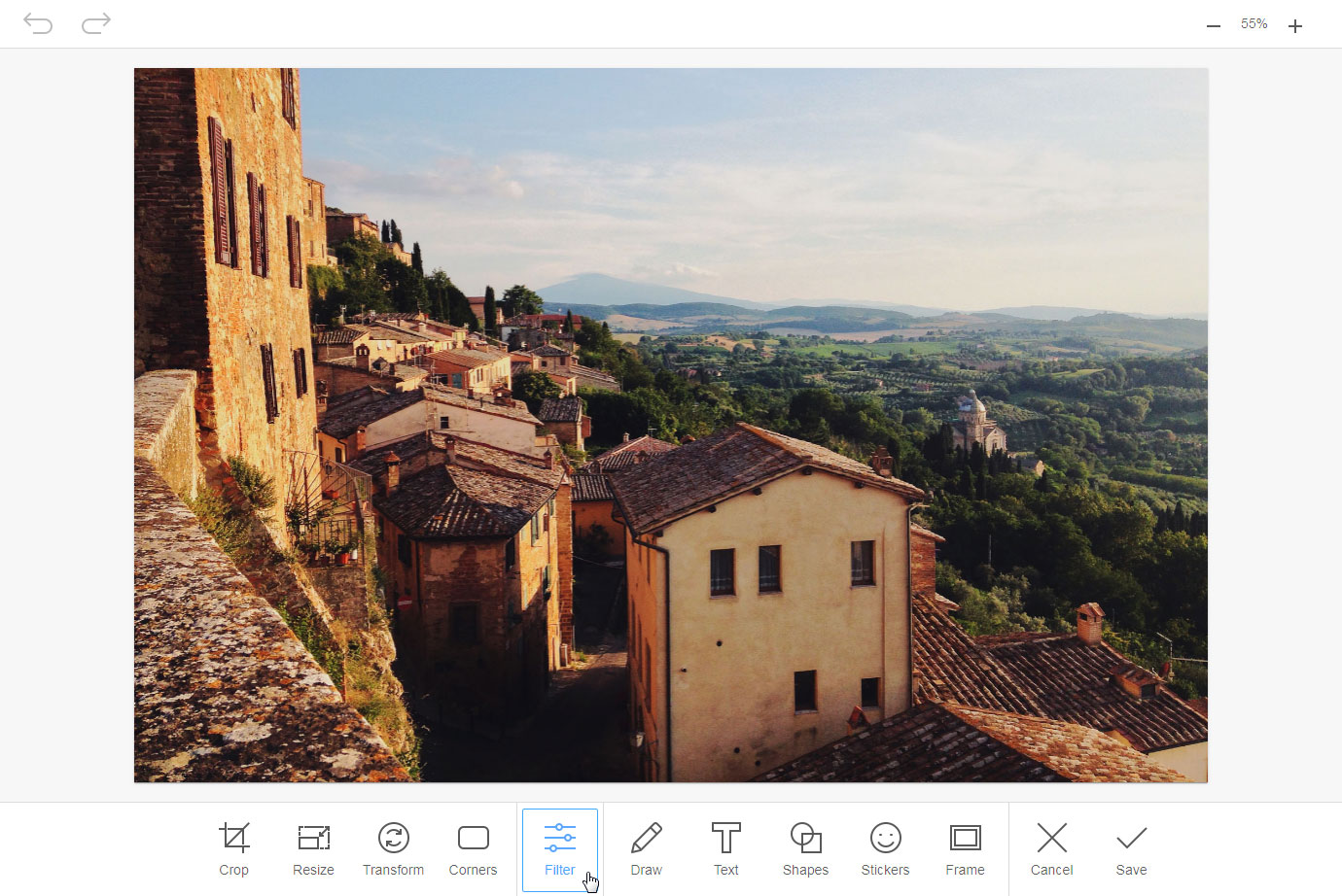 Image Editor toolbar screenshot