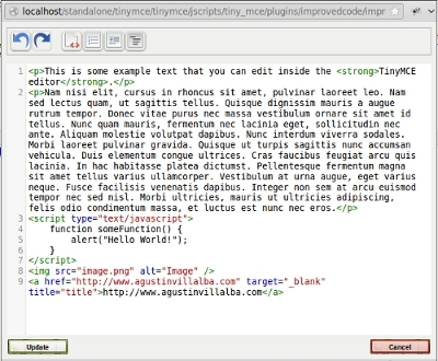 HTML ImprovedCode screenshot