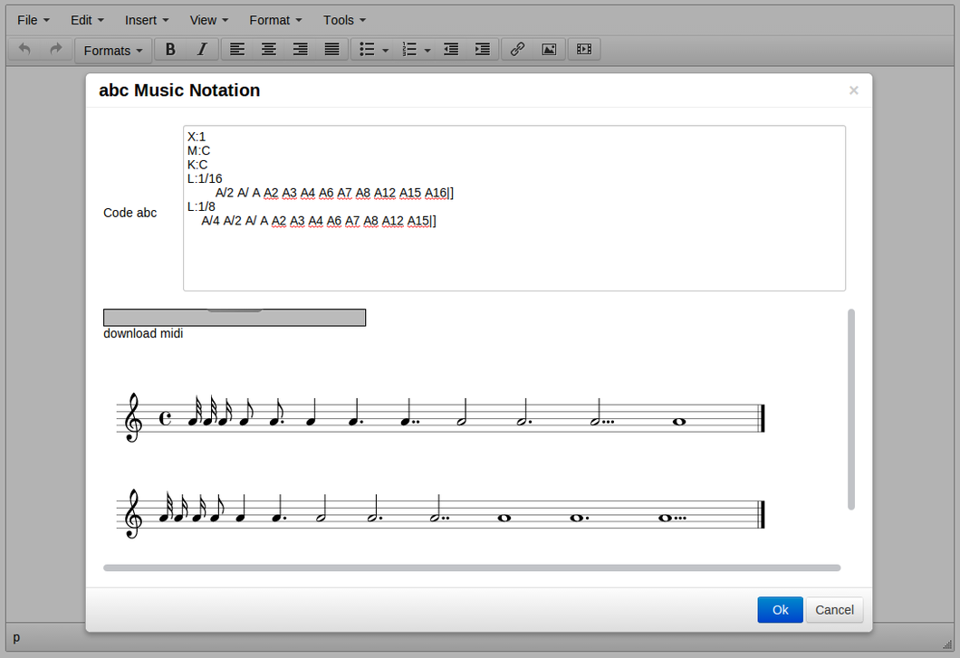 ABC Music Notation screenshot