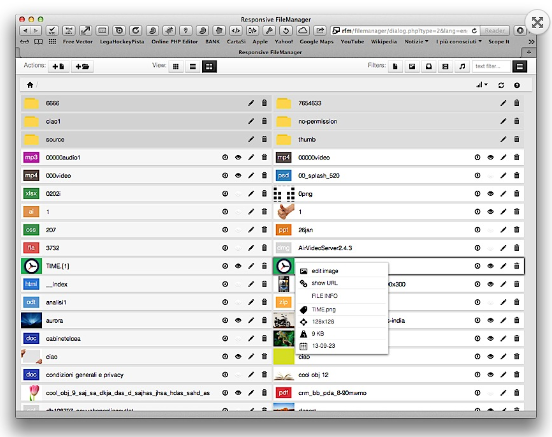 Responsive File Manager screenshot